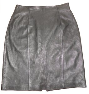 Evan Davies Lambskin Skirt black