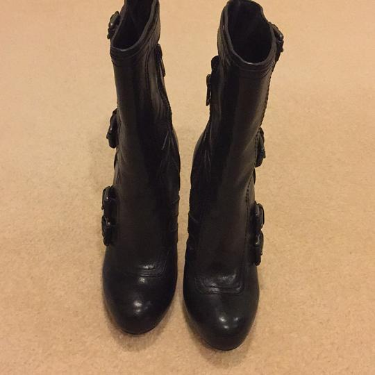Coach Black Leather Boots Image 2