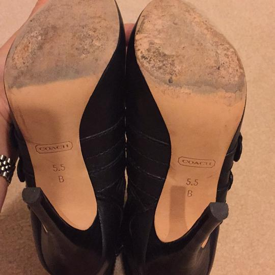 Coach Black Leather Boots Image 4