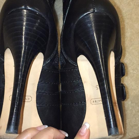 Coach Black Leather Boots Image 6
