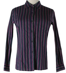 Diane von Furstenberg Striped Button Down Shirt