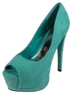 Speed Limit 98 Teal Pumps