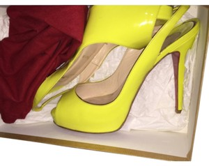 Christian Louboutin Neon Summer Bright Neon Yellow Pumps