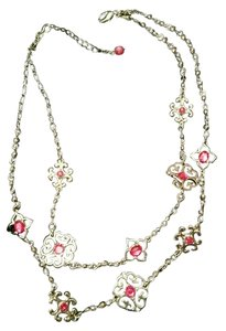 White House | Black Market NWOT White House / Black market Fushia/Red Crystal Necklace