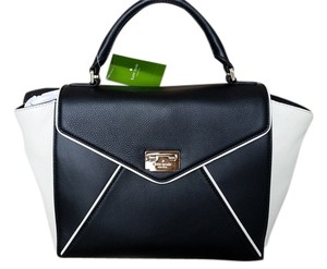 Kate Spade Envelope Zac Posen Satchel in Black and Ivory