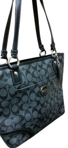 Coach Leather Designer Tote in Black