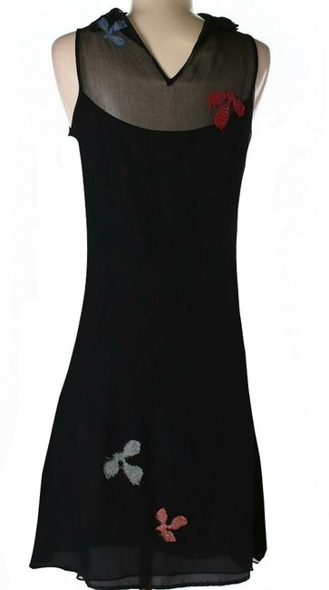 Black Maxi Dress by Tocca Silk Embroidered Fully-lined