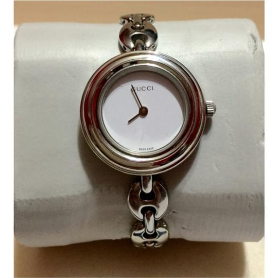 Gucci GUCCI - SILVER / Stainless Steel - Marine Link, Interchangeable Bezel Watch with 6 Different Bezels - PETITE Size