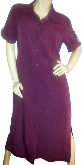 Preload https://item2.tradesy.com/images/expressions-marroon-long-button-down-shirt-mid-length-workoffice-dress-size-16-xl-plus-0x-5609191-0-0.jpg?width=400&height=650