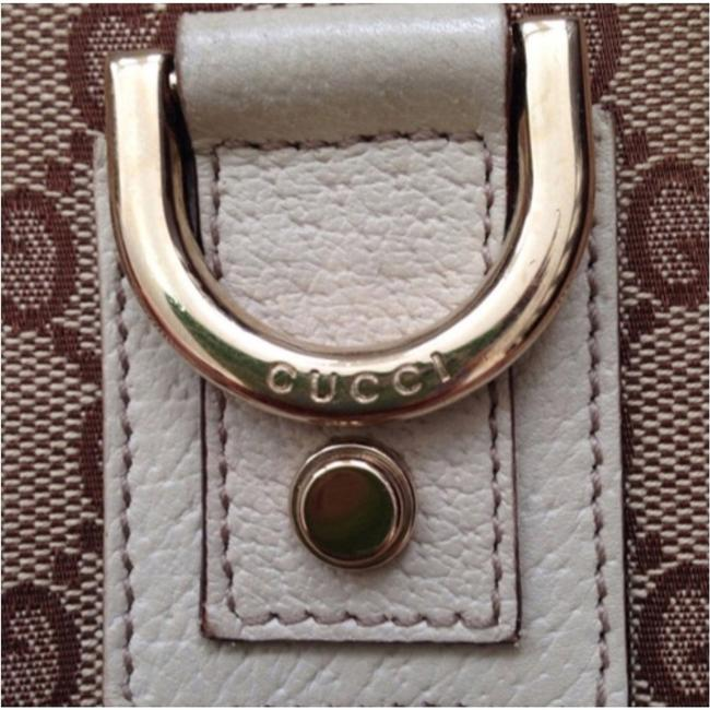 Gucci Messenger Abbey D-ring Gg Tan/Brown/Cream Canvas/Leather Cross Body Bag Gucci Messenger Abbey D-ring Gg Tan/Brown/Cream Canvas/Leather Cross Body Bag Image 1