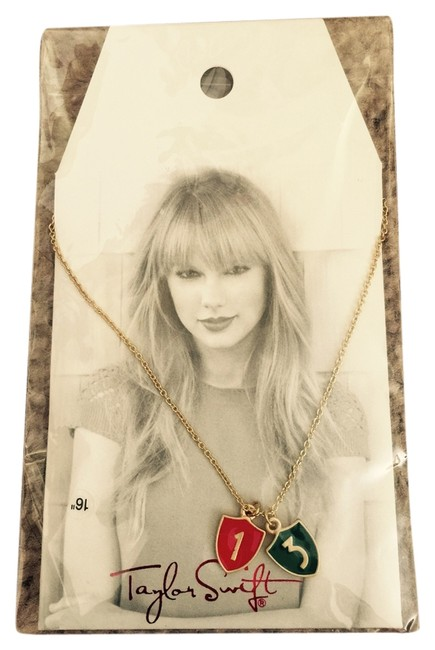 Taylor Swift Red and Green Necklace Taylor Swift Red and Green Necklace Image 1