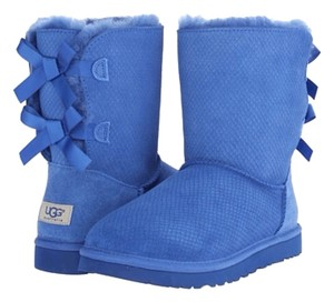 UGG Australia Exotic Scales Bailey Bow Blue Boots