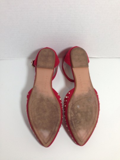 Zara Stud Red Flats