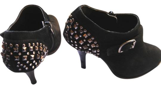 Nine West Studded Suede Cute Black Boots