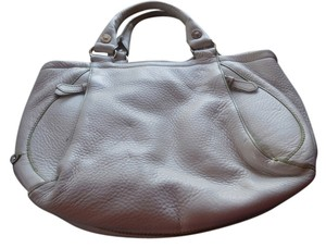 Cole Haan Pebbled Leather Satchel in Bone