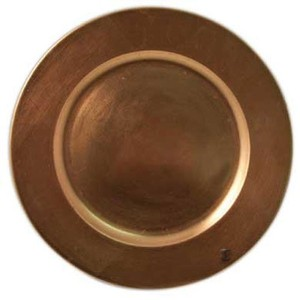 Copper Acrylic Charger Plates (Sets Of 4) Tableware