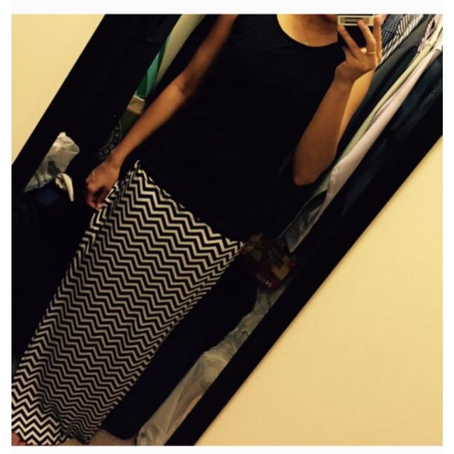 Other Maxi Skirt Black and white