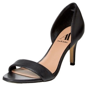 Ava & Aiden Heel Mid Heel Black Pumps