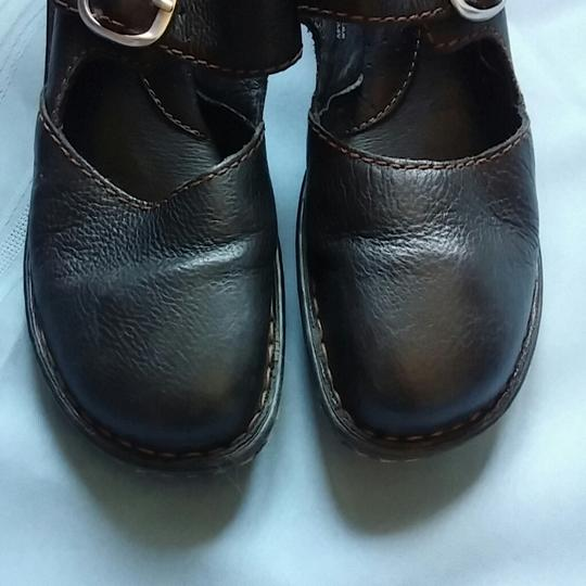 Brn Leather Nearly New Black Mules
