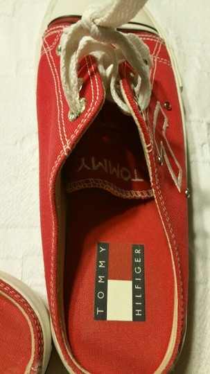 Tommy Hilfiger Tennis Red and White Mules