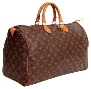 Louis Vuitton Speedy 40 Leather Speedy Travel Tote in Brown