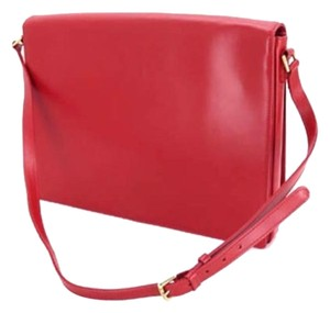 Louis Vuitton Red Opera Rhodes Epi Leather Box Calf Shoulder Bag