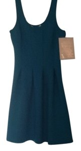 Boston Proper short dress Turquoise on Tradesy