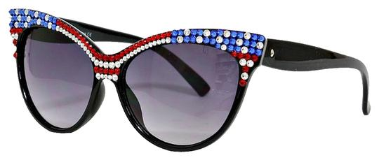 Other Rhinestone Crystal Accent Cat Eyes American Flag Patriotic Sun Glasses
