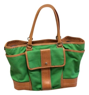 Kelly Green With Tan Leather Trim | Shoulder Bags