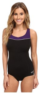 Speedo Piped High Neck Wild-Berry