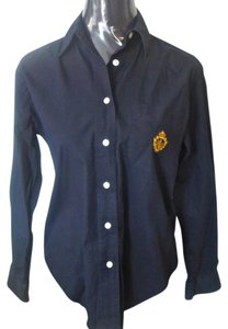 Ralph Lauren Button Down Cotton Button Down Shirt Navy