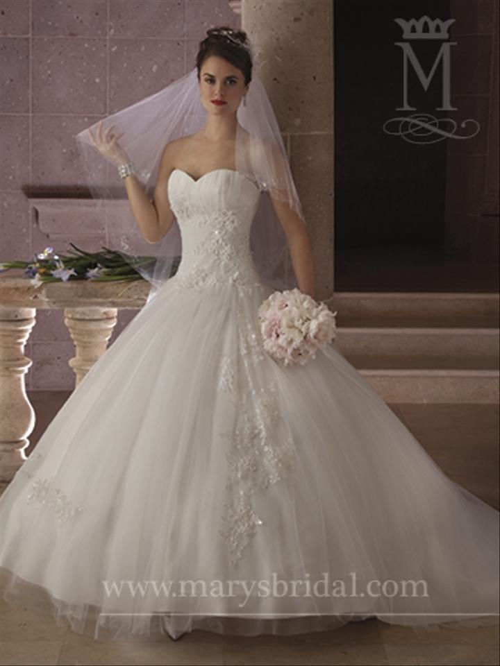 Mary 39 s bridal wedding dress tradesy weddings for Pc mary s wedding dress