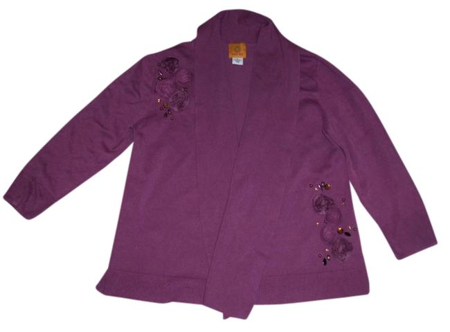 Preload https://item3.tradesy.com/images/ruby-rd-mauve-embellished-shawl-collar-cardigan-size-6-s-561212-0-0.jpg?width=400&height=650