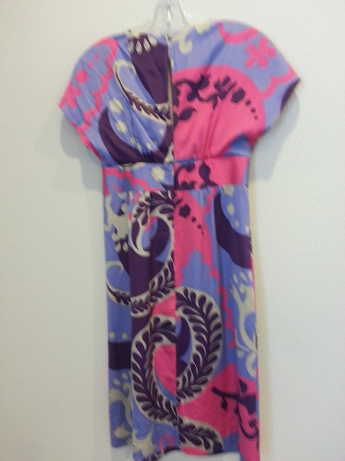 Boden short dress Pink, purple and grey on Tradesy