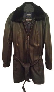 Wilsons Leather Womens Coat 3/4 Coat Leather Jacket