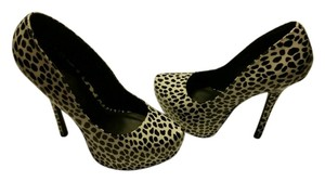 Charlotte Russe White and Black (Leopard) spots Pumps