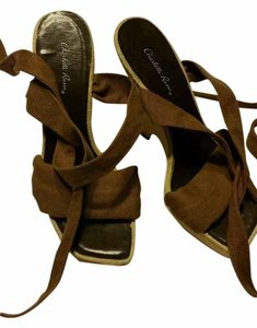 Charlotte Russe Ankle Strap Brown Wedges