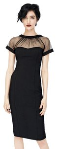 Maggy London Coctail Little Mesh Sheath Dress