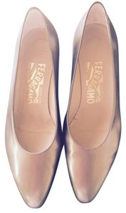 Salvatore Ferragamo Vintage Chic Heels Bronze Formal