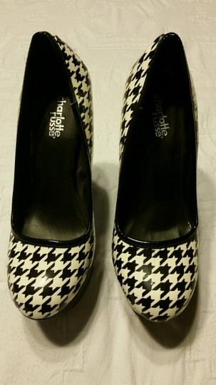 Charlotte Russe Houndstooth (Black and White) Pumps