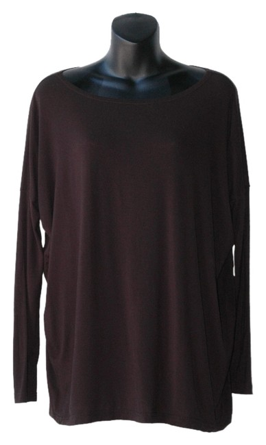 Item - Black Oversized T-shirt Fitting Slouchy Blouse Size 4 (S)