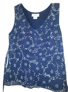 Ann Taylor LOFT Top Dark blue and off-white