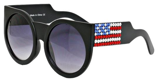 Other Rhinestone Crystal Accent American Flag Patriotic Sun Glasses