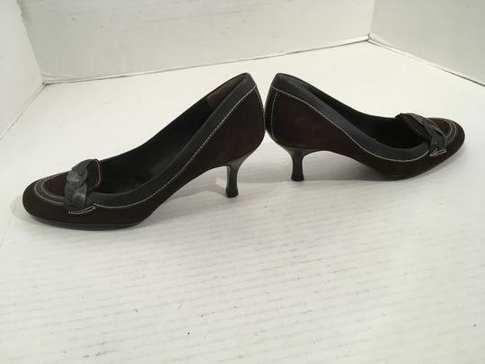 Zara PRICE REDUCED Brown and gray suede and regular leathers almond toe leather lining Pumps