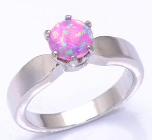Pink Opal Fashion Ring Free Shipping