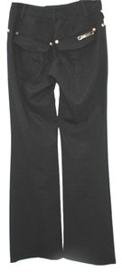 Roberto Cavalli Stretchy Wool Straight Pants BLACK