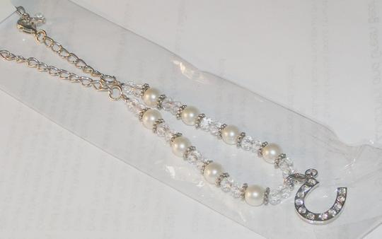 White/Clear/Silver Bogo Boot Free Shipping Bracelet