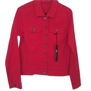 KUT from the Kloth Red Womens Jean Jacket
