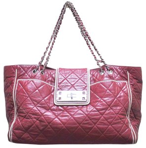 Chanel Reissue East West Quilted Lambskin Leather Handbag Shoulder Bag