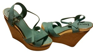 Bucco Teal Wedges